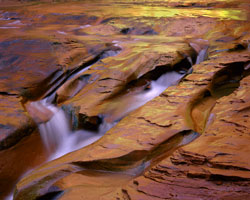 Fluted Sandstone Cascade Escalante Wilderness, Utah