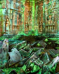 Apsaras, Lichens and Blocks, Ta Som; Angkor, Cambodia