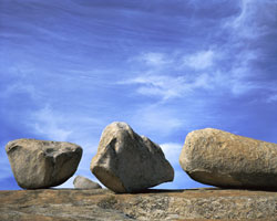 Four Granite Boulders, Bald Rock Berry Creek, California