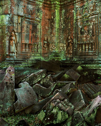 Apsaras, Lichens and Blocks, Ta Som; Angkor, Cambodia