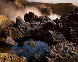 Tide Pool, Wave Crash, Cliff, Big Sur, California